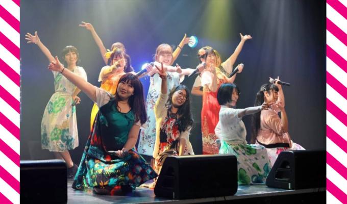 燃えこれ学園の「つうしんぼランキング4月~6月度」公演を通し、ムームー姿のメンバーたちが運んできたのは楽しい夏らしさ!!